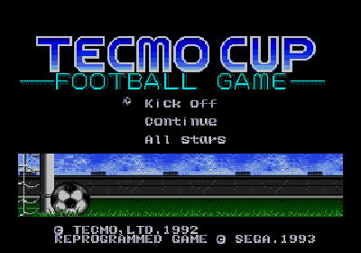 Tecmo Cup Soccer Game (CT1)