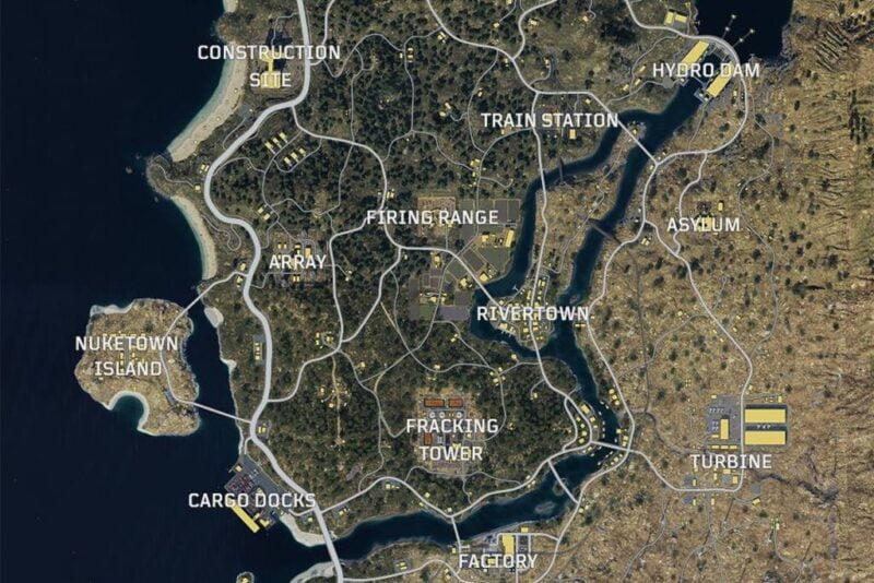 Call Of Duty Black Ops 4 BlackOut(BattleRoyale) Haritası Yayınlandı!