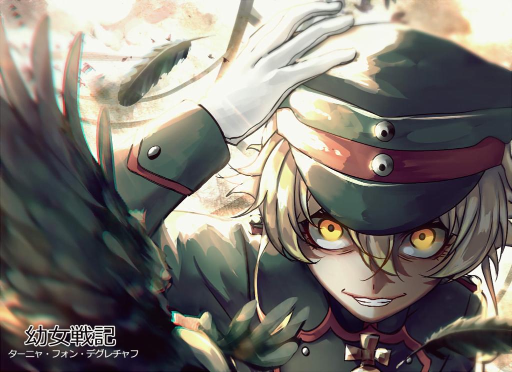 tanya degurechaff youjo senki smiling military uniform anime 14904 - Askeriye/Ordu Konulu Anime Önerileri - Figurex Anime Önerileri