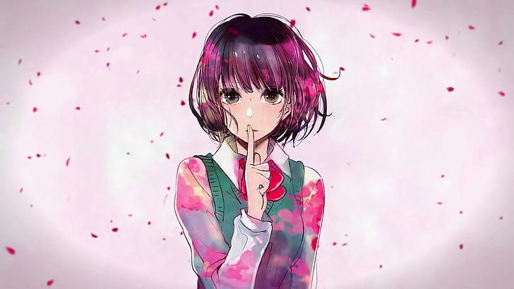 anime kuzu no honkai hanabi yasuraoka wallpaper preview - Depresif Animeler Listesi - Figurex Anime Önerileri