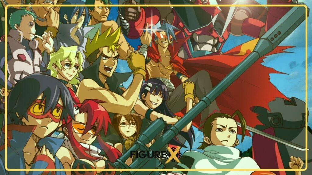 gurren lagann team dai gurren - One Piece Tarzı Animeler - Figurex Anime Önerileri