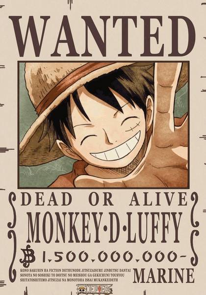 monkey d luffy wanted poster 2 2 1586804446 - One Piece - Gomu Gomu no Mi - Figurex Anime